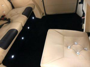 White Taxi Interior